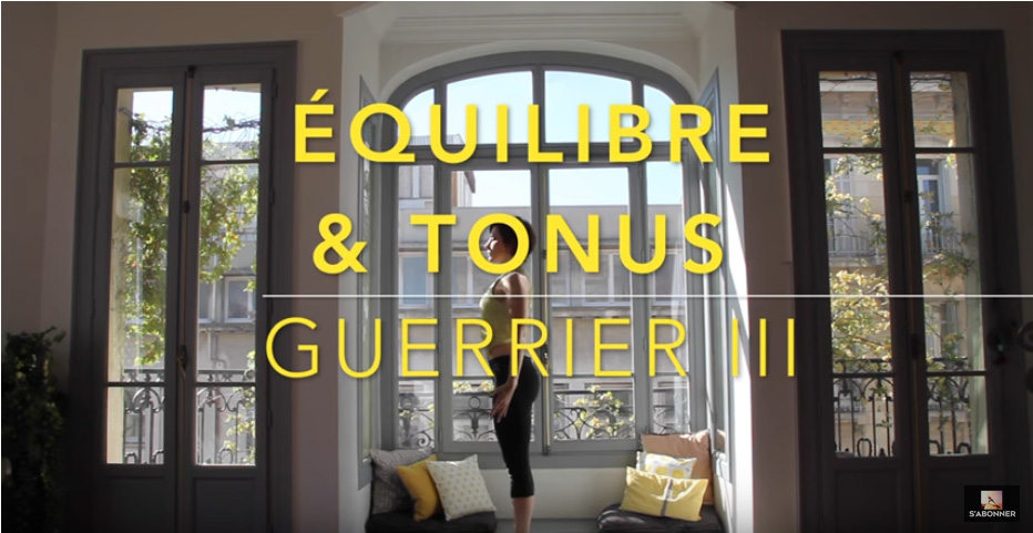 video yoga guerrier tonus